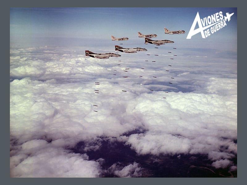 guerra aerea sobre vietnam