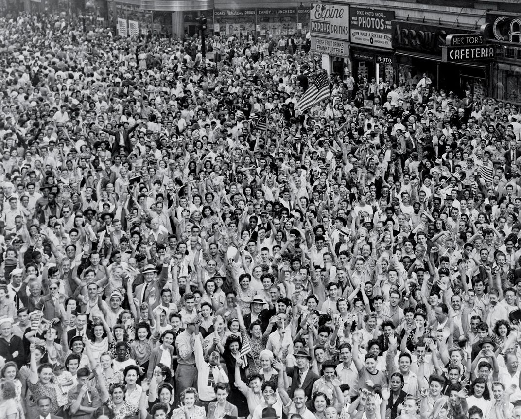 crowd at Times Square