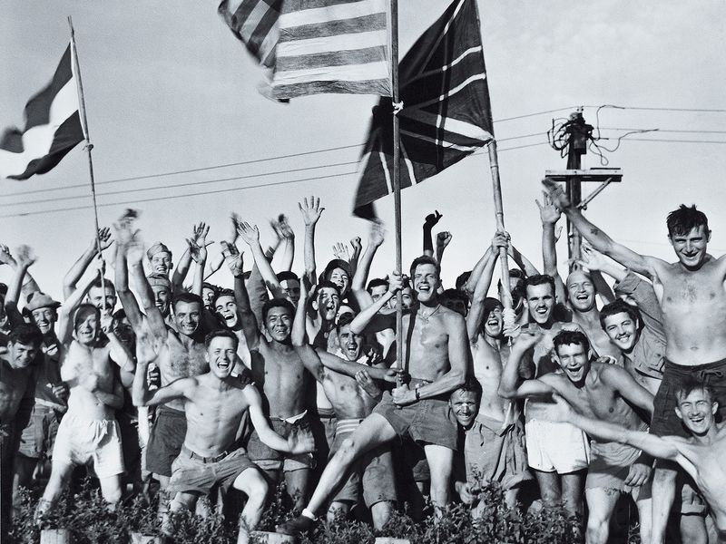 men in Japanese prison camp Navy was liberating
