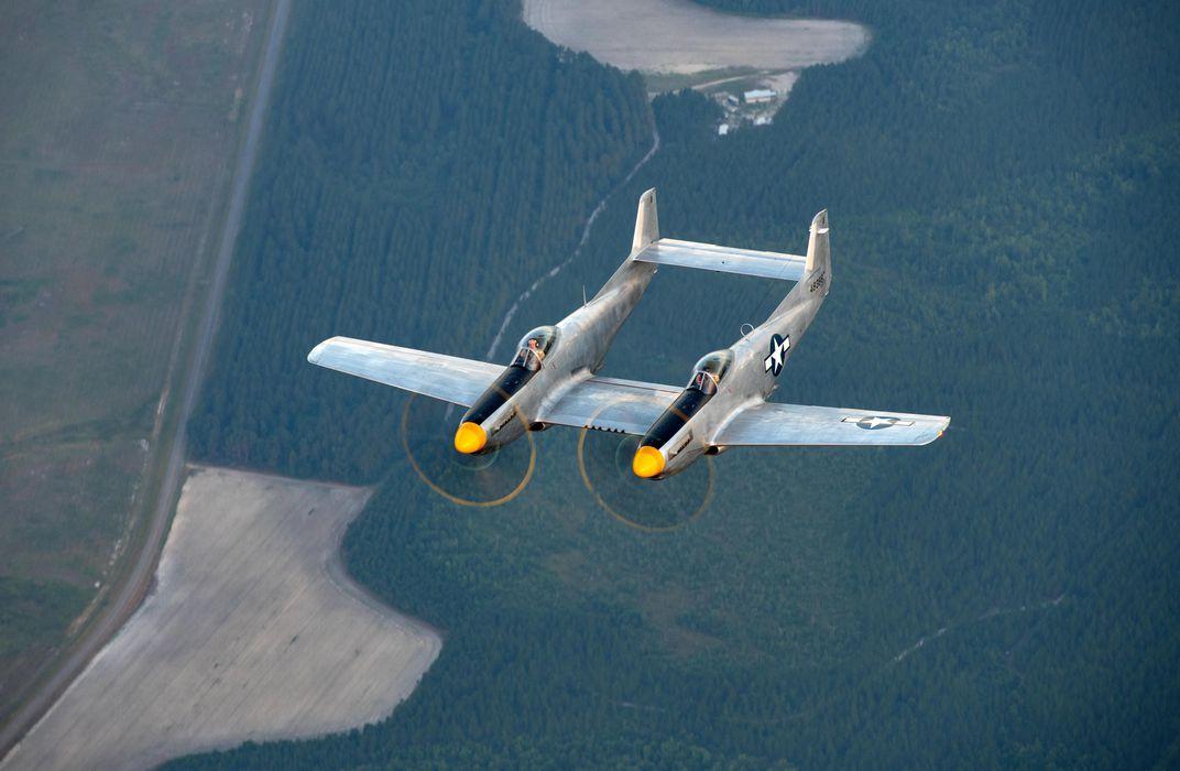 XP-82 being flown